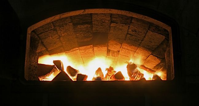 brandende oven